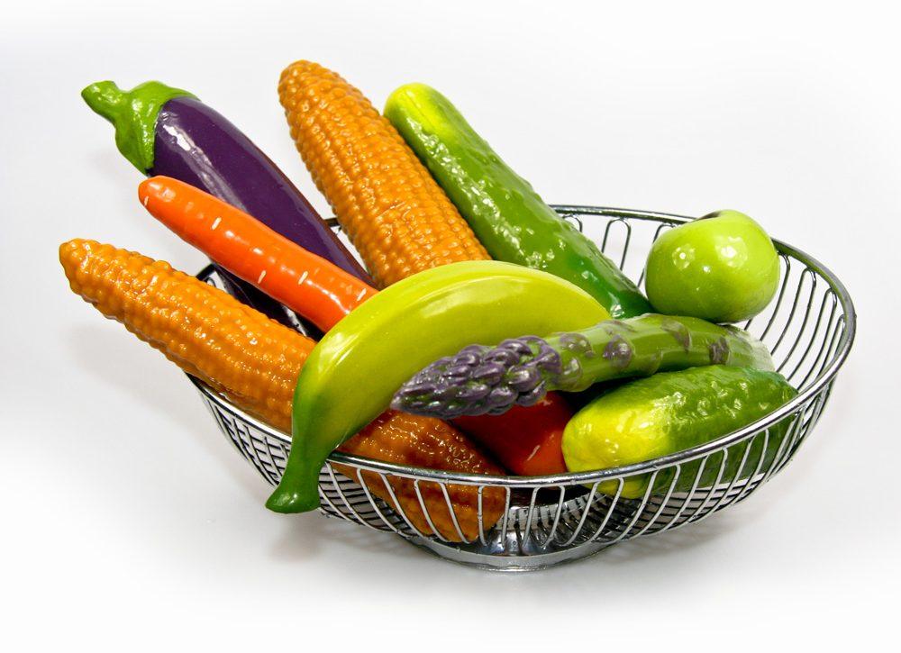 Gemüsedildos Selfdelve in Korb